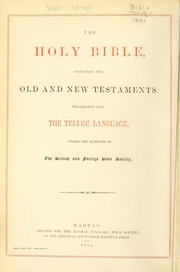 Holy Bible Old & New Testaments Telugu : Free Download