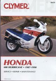 Clymer Manuale Officina Honda CBR 600 Hurricane CBR600F 1987-1990 Service Riparazione