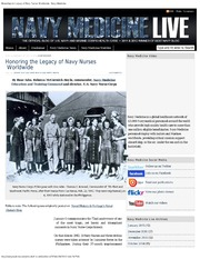 Honoring The Legacy Of Navy Nurses Worldwide