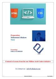 learn html and css pdf