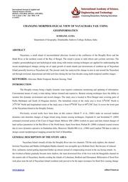 1. IJANS CHANGING MORPHOLOGICAL VIEW OF NAYACHARA TAIL USING GEOINFORMATICS