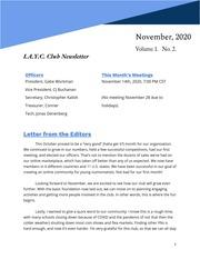 I.A.Y.C. Club Newsletter (November 2020)