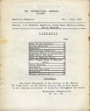 International Bank Note Society Journal (July 1961)