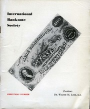 International Bank Note Society Journal (Christmas 1961)