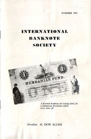 International Bank Note Society Journal (Summer 1962) (pg. 1)