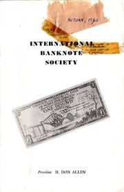 International Bank Note Society Journal (Autumn 1962) (pg. 1)