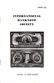 International Bank Note Society Journal (Spring 1963) (pg. 1)