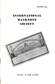International Bank Note Society Journal (Autumn 1963) (pg. 3)
