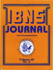 International Bank Note Society Journal (Issue 2, 1981) (pg. 34)
