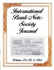 International Bank Note Society Journal (Issue 4, 1984) (pg. 22)