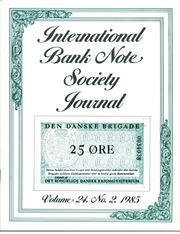 International Bank Note Society Journal (Issue 2, 1985) (pg. 24)