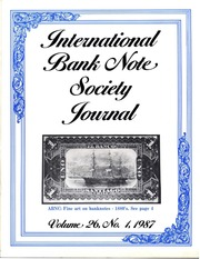 International Bank Note Society Journal (Issue 1, 1987) (pg. 23)