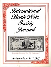 International Bank Note Society Journal (Issue 3, 1987) (pg. 21)