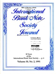 International Bank Note Society Journal (Issue 2, 1991) (pg. 10)