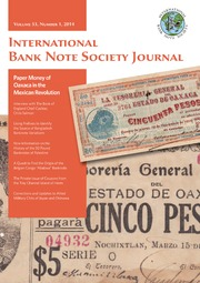 International Bank Note Society Journal (Issue 1, 2014)
