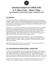 Chemical Analysis of 1794 & 1795 U.S. Silver Coins - Phase 1 Data