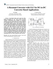 A Resonant Converter with LLC for DC-to-DC Converter Based Applications