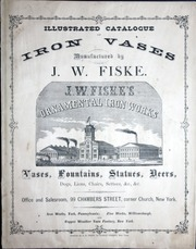 Illustrated Catalog Of Iron Vases Manufactured By J W