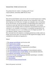 Immanuel Kant Kritiek Van De Zuivere Rede Free Download