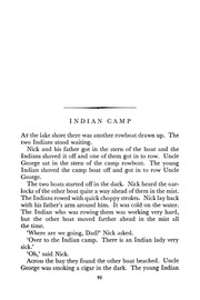 symbol of indian camp by hemingway Hemmingways indian camp - essay example nobody amy strong suggests that the indians are a symbol of darkness in the story and that the indians come to take the white men across from their sophisticated land to the darkness and ernest hemingway, indian camp and the doctor and the.