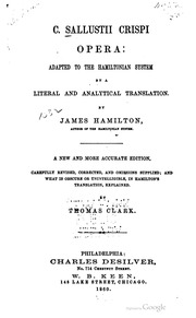 INTERLINEAR TRANSLATION OF SALLUSTIUS CRISPUS BY JAMES