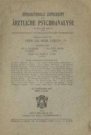 Internationale Zeitschrift für ärztliche Psychoanalyse Band II Heft 4