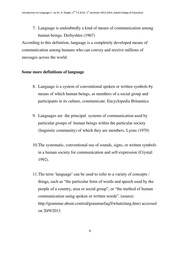 Introduction To Language 1, 1st Handout, By Dr. A. Shaghi, 2nd Y. E B. Ed. 1st Semester 2013 2014, Zabid College Of Education