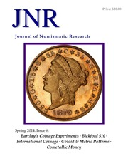 Journal of Numismatic Research (Spring 2014)