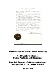 J.W. Martin Library Commendation