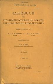 Jahrbuch für psychoanalytische und psychopathologische Forschungen IV. Band 1912 2.Hälfte