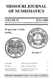 Missouri Journal of Numismatics, Vol. 25