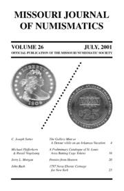 Missouri Journal of Numismatics, Vol. 26