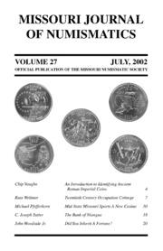 Missouri Journal of Numismatics, Vol. 27