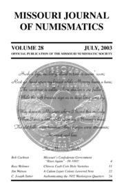 Missouri Journal of Numismatics, Vol. 28