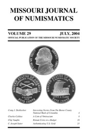 Missouri Journal of Numismatics, Vol. 29