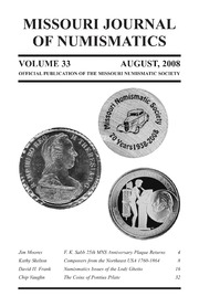 Missouri Journal of Numismatics, Vol. 33