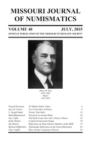 Missouri Journal of Numismatics, Vol. 40