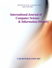 Journal Of Computer Science IJCSIS Vol. 13 No. 2 February 2015