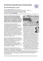 Juedische Kriegserklaerung 1933
