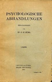 Psychologische Abhandlungen. I.Band