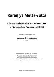 Karaneeya meththa suthraya pdf.