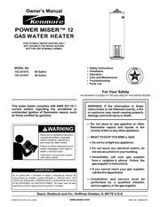 kenmore 153339482 water heater user manual kenmore. Black Bedroom Furniture Sets. Home Design Ideas