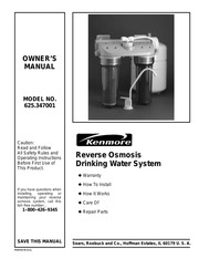 Care of your reverse osmosis system | kenmore ultrafilter 300.