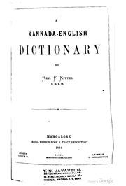 A Kannada-English Dictionary : Reverend Ferdinand Kittel