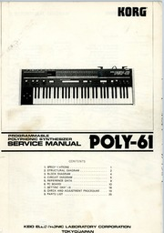 Korg Poly61 Service Manual Hi Res : Free Download, Borrow, and