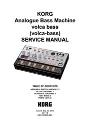 Korg Volca Bass Service Manual : Free Download, Borrow, and