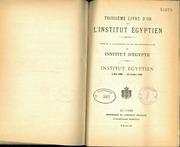 Troisième Livre D-or De L-Institut Égyptien 1920