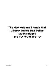 A Register of Liberty Seated Half Dollar Varieties, Volume IV, New Orleans Branch Mint 1853-O WA to 1861-O