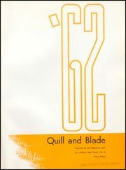 Cover image of Lew Wallace High School's yearbook, the Quill and Blade