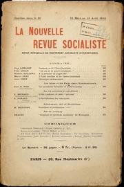 Comment se fit lunité socialiste. In La Nouvelle Revue Socialiste, 4e Année, N° 30, 15 mars au 15 avril 1930